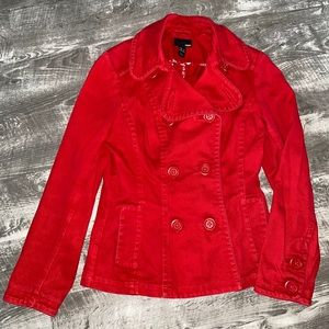 H&M Red Jacket Coat Small